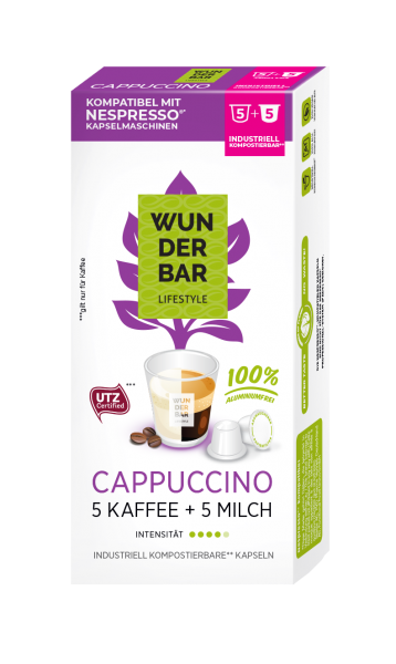 Wunderbar Lifestyle Cappuccino - 10 Kapseln